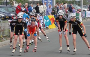Dames Skeelerwedstrijd Ronde van Gelderland